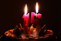 Födelsedag 15 år Arkivfoton