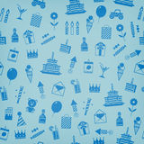 Födelsedag årsdag, kort för jubileumpartiinbjudan, vykortdesign Arkivbild
