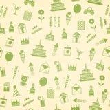 Födelsedag årsdag, kort för jubileumpartiinbjudan, vykortdesign Arkivbilder