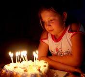födelsedag Arkivbild