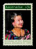 Födelsedag av drottningen Elizabeth II, serie, circa 1991 arkivbilder