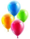 Födelsedag- eller partiballonger vektor illustrationer