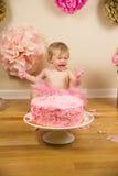 födelsedag först Arkivbild