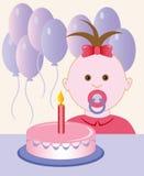 födelsedag först Arkivbilder
