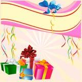 Födelsedagbakgrund Royaltyfria Bilder