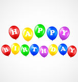Födelsedagbakgrund med ballonger Stock Illustrationer