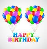 Födelsedagbakgrund med ballonger Royaltyfri Illustrationer