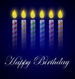 Födelsedagbakgrund med stearinljus Stock Illustrationer