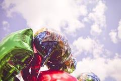 Födelsedagballonger Arkivfoto