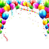 Födelsedagballonger Arkivbild