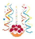 födelsedagcake Fotografering för Bildbyråer