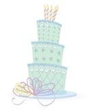 födelsedagcake royaltyfri illustrationer