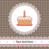 födelsedagcake första Arkivfoton