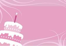 födelsedagcakeflicka Royaltyfri Foto
