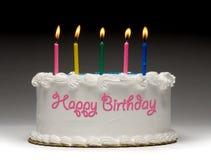 födelsedagcakeprofil fotografering för bildbyråer