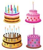 födelsedagcakes vektor illustrationer