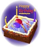 födelsedagcakestearinljus stock illustrationer