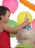 födelsedagchildsdeltagare Arkivfoton
