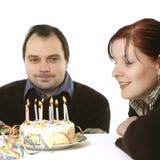 födelsedagdeltagare royaltyfria foton