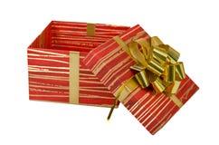 Födelsedagen ask, firar, beröm, jul, jul gåvan, gåvan, giftbox som isoleras Arkivfoto