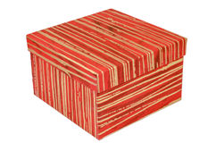 Födelsedagen ask, firar, beröm, jul, jul gåvan, gåvan, giftbox som isoleras Arkivfoton