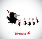 födelsedagen cards lyckligt stock illustrationer