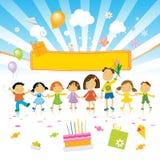födelsedagen lurar deltagaren Arkivbild