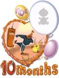 Födelsedagen tio månad för behandla som ett barn Royaltyfri Bild