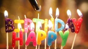 födelsedagen undersöker lyckligt lager videofilmer