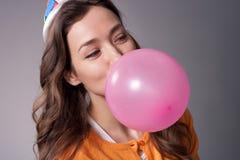 Födelsedagflicka Fotografering för Bildbyråer