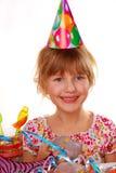 födelsedagflicka little deltagare royaltyfri foto