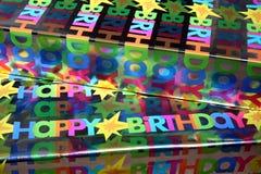 födelsedaggåvor Arkivbild