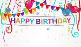 Födelsedaggarneringbakgrund stock illustrationer