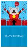 Födelsedaghälsningar med koalan Arkivfoton