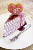 Födelsedagkaka Arkivfoto