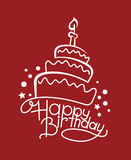 Födelsedagkaka stock illustrationer