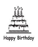 Födelsedagkaka royaltyfri illustrationer