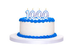 1000. födelsedagkaka Royaltyfri Foto