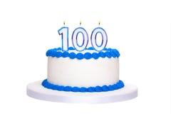 100. födelsedagkaka Fotografering för Bildbyråer