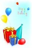 födelsedagkort royaltyfri illustrationer