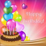 födelsedagkortdag royaltyfri illustrationer