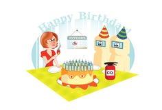 födelsedagkortgåva Arkivfoton
