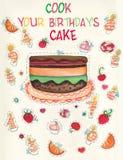 födelsedagkortspel s Arkivfoton