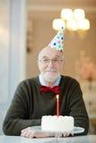 Födelsedagparti för morfar fotografering för bildbyråer