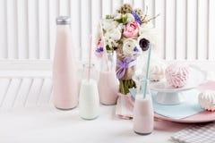 Födelsedagparti i rosa färger Royaltyfria Foton