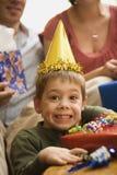 födelsedagpojkedeltagare Fotografering för Bildbyråer