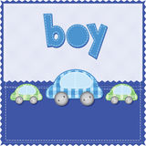 födelsedagpojkekort stock illustrationer