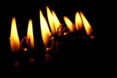 födelsedagstearinljus Arkivfoto