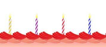 födelsedagstearinljus royaltyfri illustrationer
