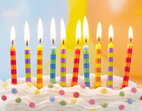 Födelsedagstearinljus royaltyfri fotografi
